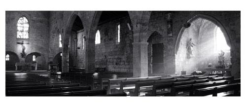 Aigues Mortes - L'église Notre Dame des Sablons - Carte Postale panoramique 10x23. Photographe Marianne Raous
