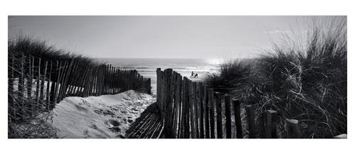 Plage Carnon- La Grande Motte - Les dunes du Grand Travers - Carte postale panoramique 10x23 cm - Photographe: Marianne Raous