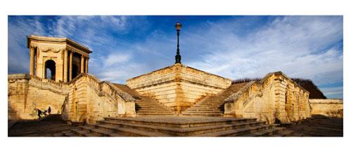 Montpellier - Le Pérou -Carte Postale panoramique 10x23. Photographe Marianne Raous
