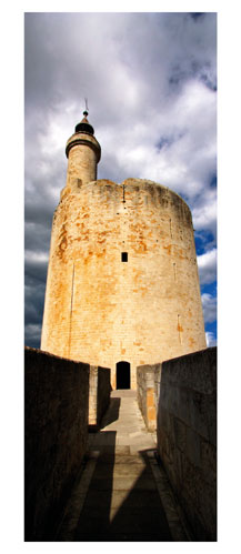 Aigues Mortes - La tour Constance - Carte Postale panoramique 10x23. Photographe Marianne Raous