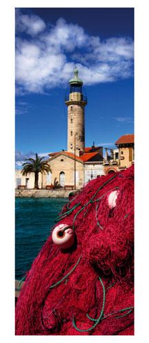 Le Grau du Roi. Le vieux phare. Carte postale panoramique 10x23 cm. Photographe: Marianne Raous
