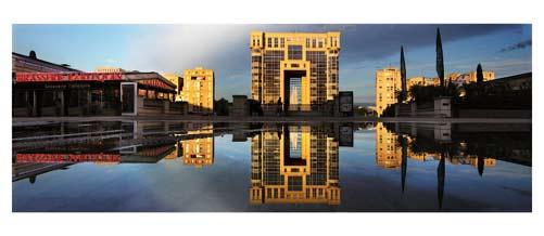 Montpellier - Antigone - L'Hotel de région - Place de l'Europe